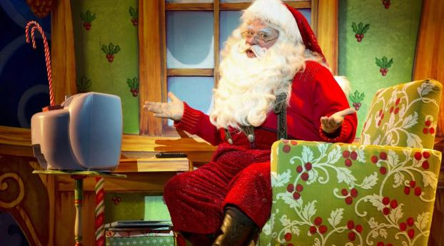 640x1136 Santa Claus Astonishment Armchair Iphone 55c5s