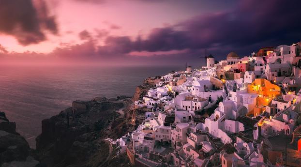 Santorini Island Greece Wallpaper 3840x2400 Resolution