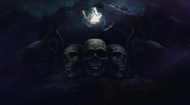 HD Wallpaper | Background Image Scary Skulls
