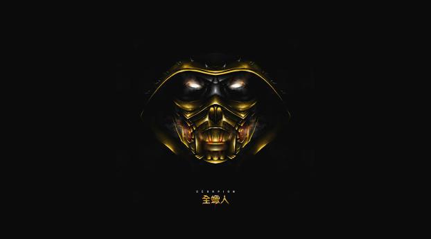Scorpion Mortal Kombat Dark Minimal Wallpaper