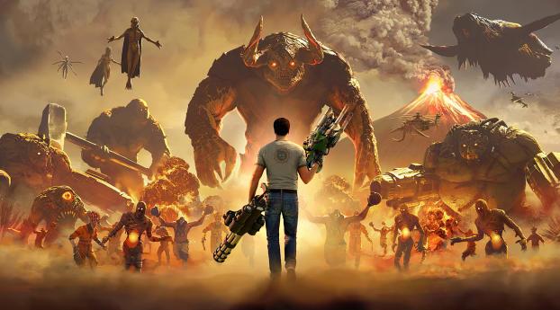 HD Wallpaper | Background Image Serious Sam 4 Planet Badass
