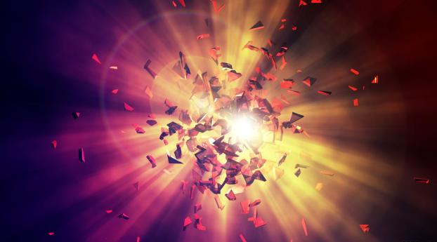 shards, explosion, energy Wallpaper in 320x480 Resolution