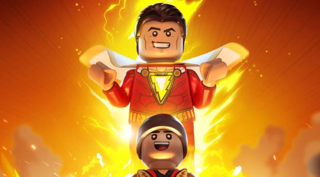 Shazam Lego Wallpaper 320x568 Resolution