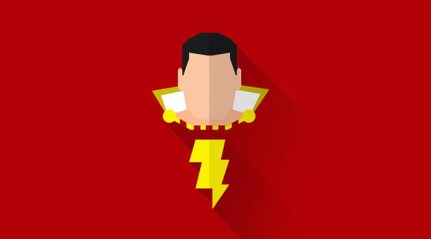 HD Wallpaper | Background Image Shazam Minimal