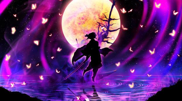 Shinobu Kochou Kimetsu no Yaiba Wallpaper