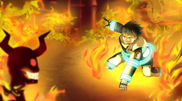 HD Wallpaper   Background Image Shinra Kusakabe Anime