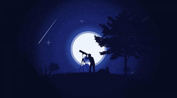 HD Wallpaper | Background Image Shooting Star Art