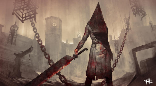 Silent Hill x Dead by Daylight Wallpaper 1360x768 Resolution