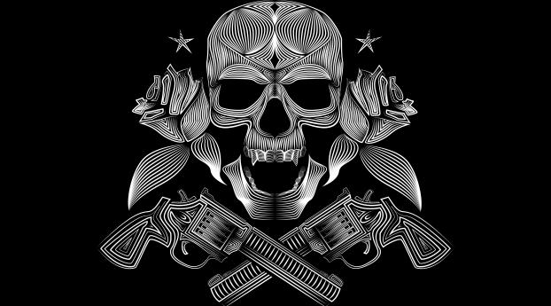 HD Wallpaper | Background Image Skull Gangsters Vector