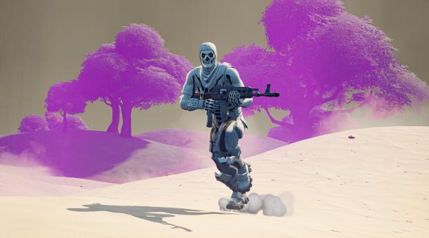 Skull Trooper 4K Fortnite Wallpaper