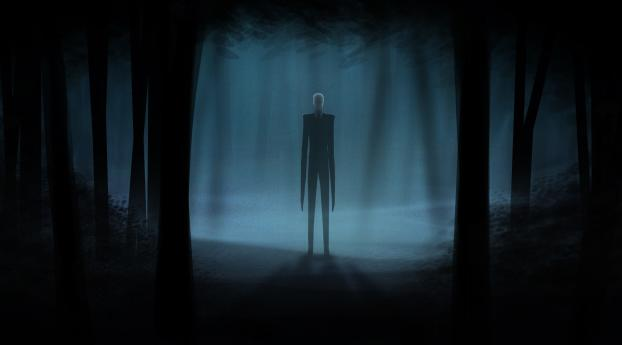 Slender Man Artwork Wallpaper in 1242x2688 Resolution