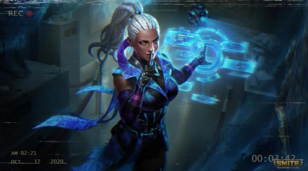 Smite Game Futuristic Cyberpunk Space Wallpaper