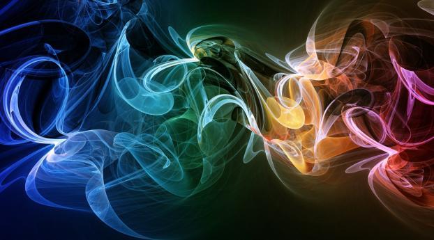 smoke, shape, colorful Wallpaper