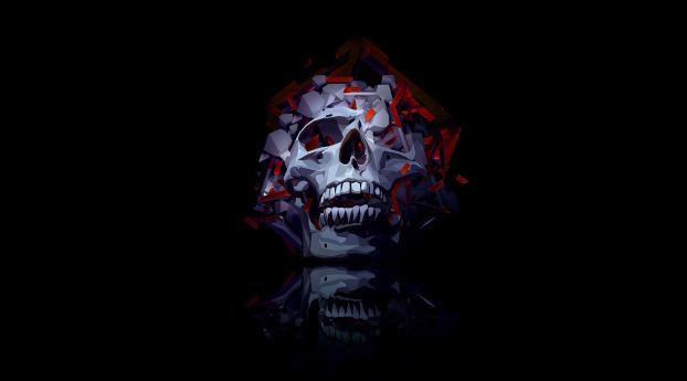 Smoky Skull Wallpaper 320x240 Resolution