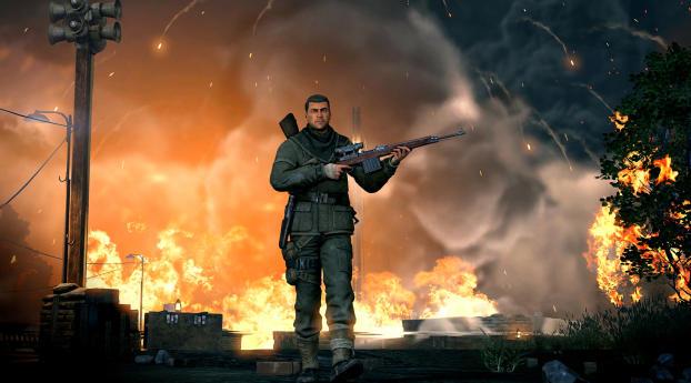 HD Wallpaper   Background Image Sniper Elite V2 Remastered