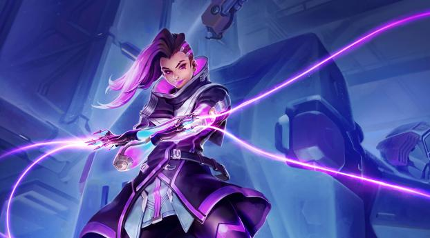 HD Wallpaper | Background Image Sombra Overwatch Hacker