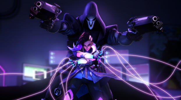 HD Wallpaper | Background Image Sombra Reaper Overwatch 4k