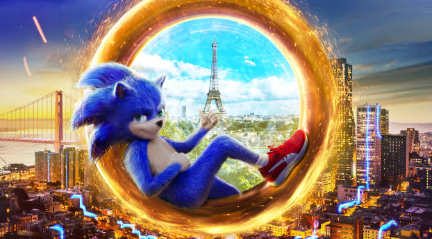 HD Wallpaper | Background Image Sonic the Hedgehog 2019 Movie