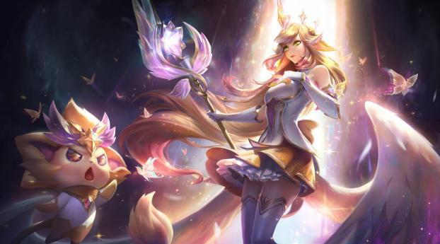 Soraka League Of Legends Digital Wallpaper