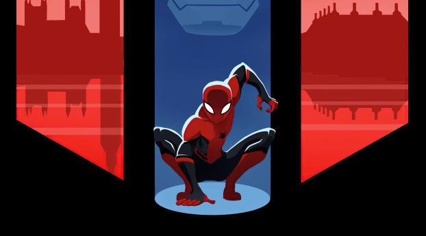 Spider-Man 4k Marvel Minimal Art Wallpaper 1280x2120 Resolution