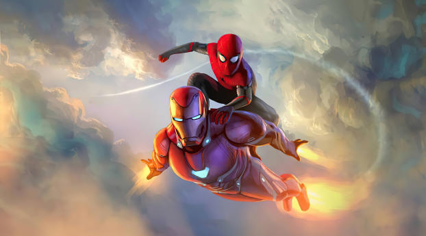 Spider Man and Iron Man Wallpaper in 1920x1200 Resolution