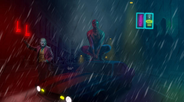 HD Wallpaper | Background Image Spider Man and Joker