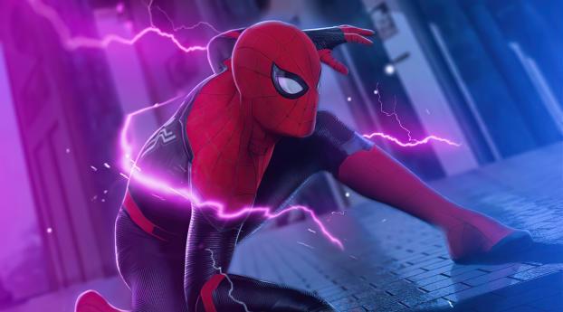 Spider-Man Electric Art Wallpaper 1024x768 Resolution