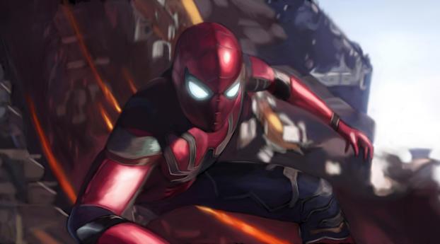 Spider man in avengers infinity war 2018 hd 4k wallpaper - Spider man infinity war wallpaper ...