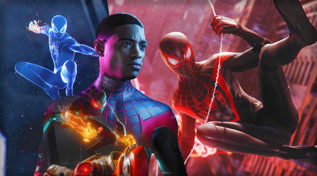 Spider-Man Miles Morales Marvel Art Wallpaper 1280x720 Resolution