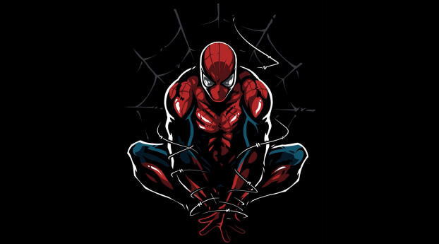 HD Wallpaper | Background Image Spider-Man Minimal Artwork