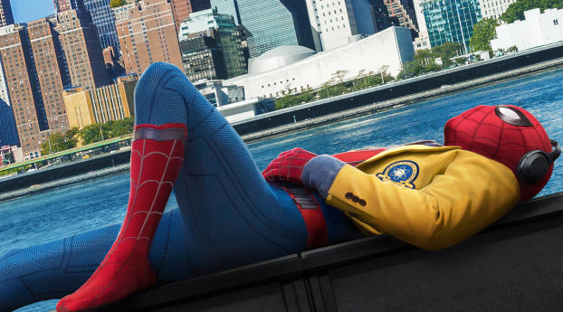 HD Wallpaper | Background Image  Spiderman Homecoming Ad