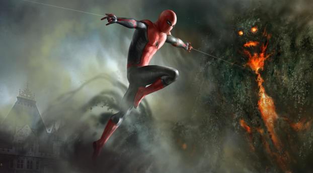 HD Wallpaper | Background Image Spiderman vs Elementals