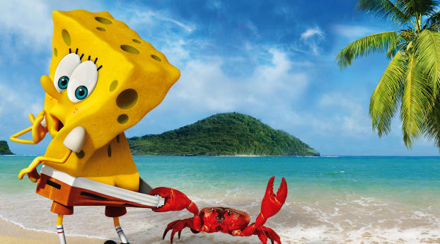 HD Wallpaper | Background Image SpongeBob Crab Funny