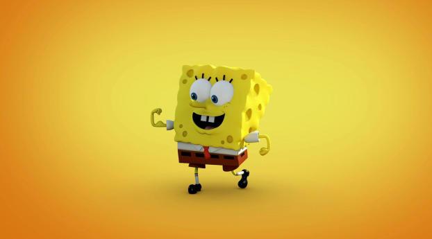 Spongebob With Red Tie Wallpaper 1400x900 Resolution