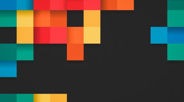 Square Colorful Pattern Wallpaper