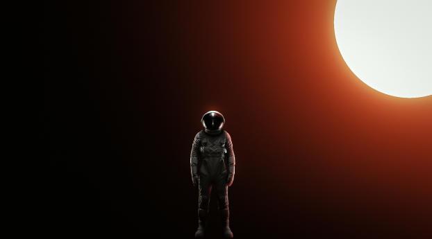 Standing alone Astronaut Wallpaper