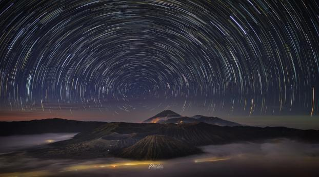 HD Wallpaper | Background Image Star Trail In The Night Sky