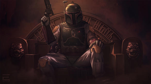 Star Wars Boba Fett Fan Poster Wallpaper in 2932x2932 Resolution