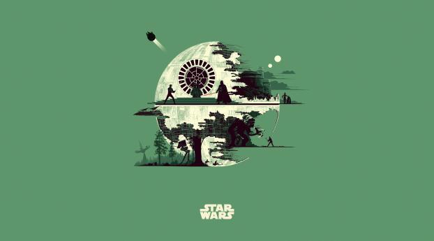 HD Wallpaper   Background Image Star Wars Skywalker Saga Minimal