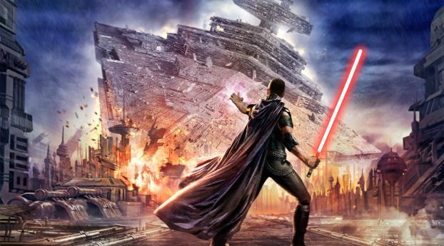 1440x2960 Star Wars The Force Unleashed Lightsaber Samsung