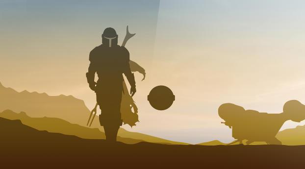 HD Wallpaper | Background Image Star Wars The Mandalorian 4k Minimalist