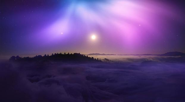 Starry Moon Night 2020 Wallpaper 480x800 Resolution