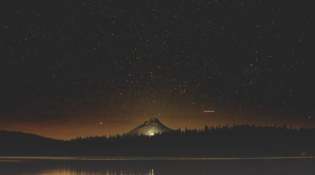 HD Wallpaper | Background Image Starry Night Sky Near Lake