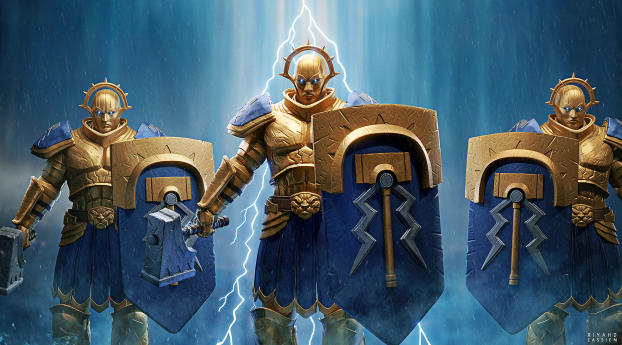 Stormcast Eternals Warhammer Warrior Wallpaper