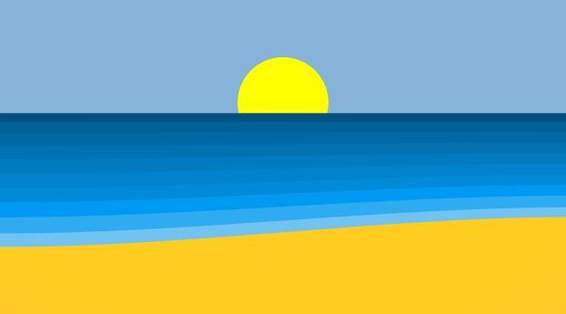 HD Wallpaper | Background Image Summer Beach Art