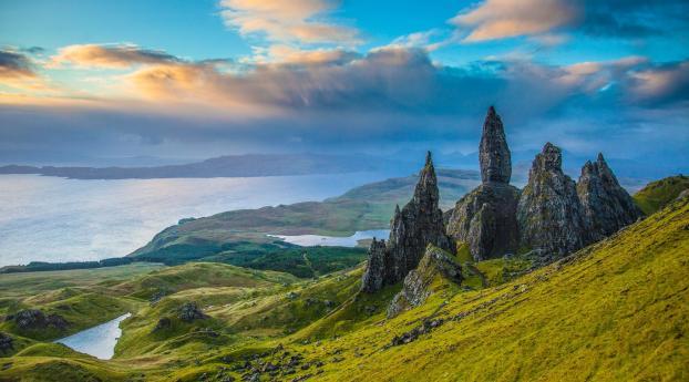 HD Wallpaper | Background Image Sunrise On the Isle of Skye