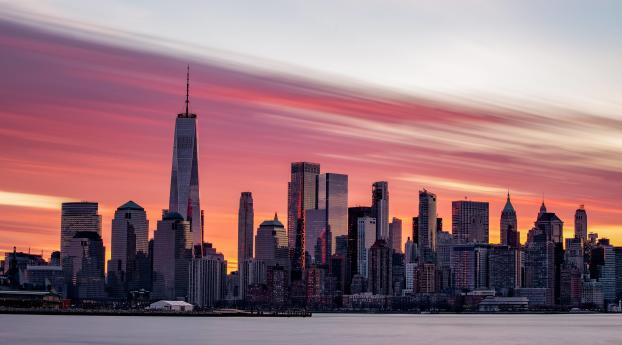 HD Wallpaper | Background Image Sunrise Over Lower Manhattan