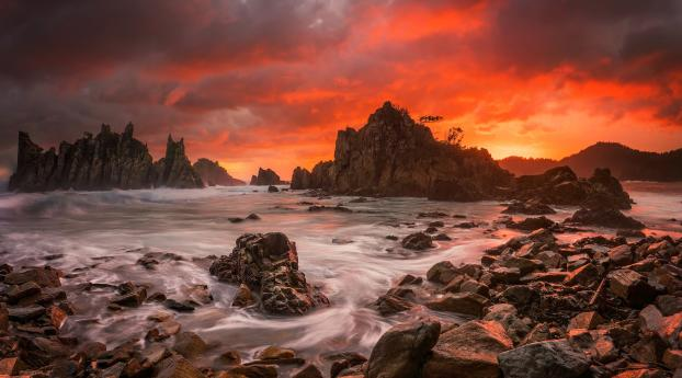 HD Wallpaper | Background Image Sunset at Seascape