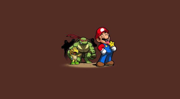 HD Wallpaper | Background Image Super Mario and Teenage Mutan Ninja Turtles