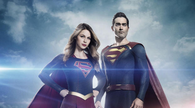Supergirl and Superman Arrowverse Wallpaper